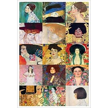 Amour Immortel par Klimt, toile, 24 po x 36 po