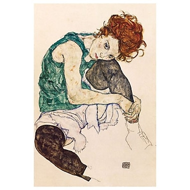 The Artist's Wife by Schiele, Canvas, 24