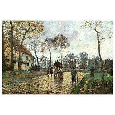La calèche par Pissaro, toile, 24 po x 36 po