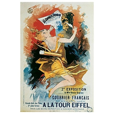 Le Courrier français par Cheret, toile, 24 po x 36 po