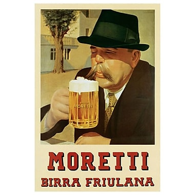 Moretti Birra Friulana (Beer), Stretched Canvas, 24