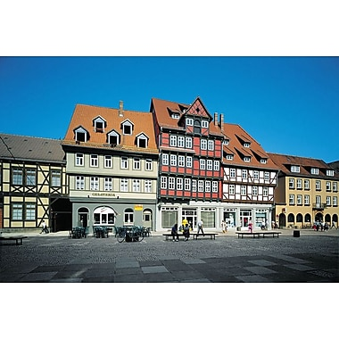 European Timbered Houses, Stretched Canvas, 24