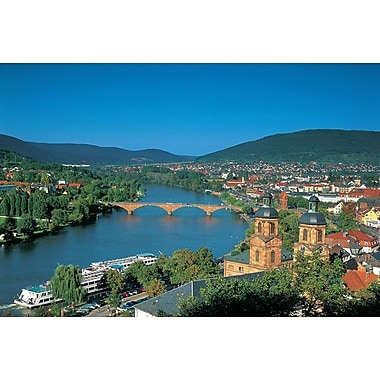 Heidelberg on the River Rhine, Stretched Canvas, 24