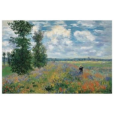 Le champ de pavot par Monet, toile, 24 po x 36 po