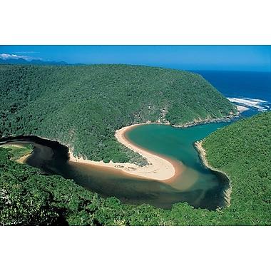 Afrique du Sud, toile tendue, 24 po x 36 po