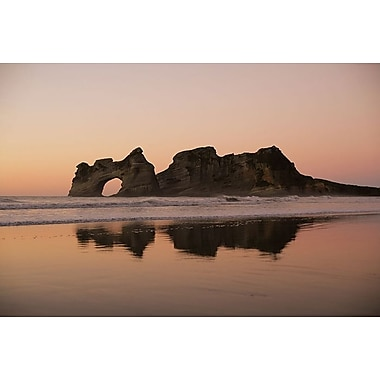 Rock with a Hole in Sunset, Stretched Canvas, 24