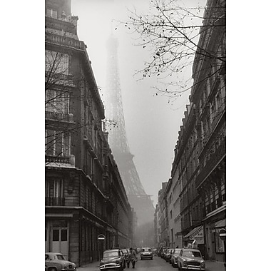 Foggy Paris in Black and White, Stretched Canvas, 24