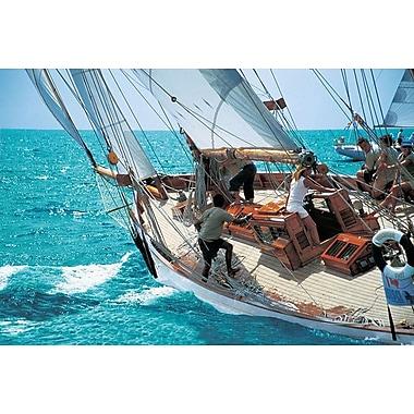 Penché à tribord, toile tendue, 24 po x 36 po