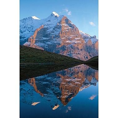 Lac dans les Rocheuses, toile étirée, 24 x 36 po
