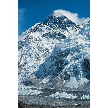 Le mont Everest, toile tendue, 24 x 36 po