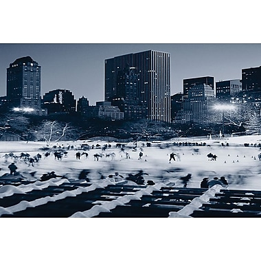 Central Park Wollman Rink, Stretched Canvas, 24