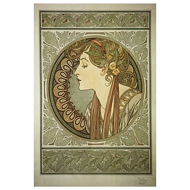 Laurel by Mucha, Canvas, 24