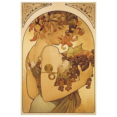 Fruit by Mucha, Canvas, 24