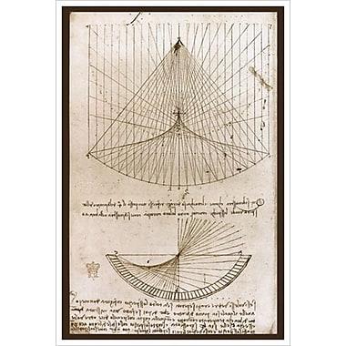 Les courbes par de Vinci, toile, 24 x 36 po