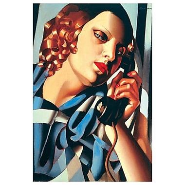Le Telephone II par Lempicka, toile, 24 x 36 po