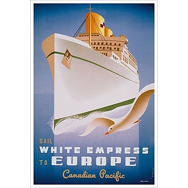 CP White Empress to Europe, Stretched Canvas, 24