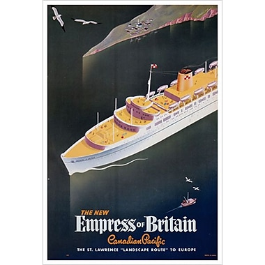 « CP - New Empress of Britain », toile tendue, 24 x 36 po