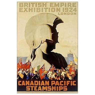 « CP - British Empire Exhibition », toile tendue, 24 x 36 po