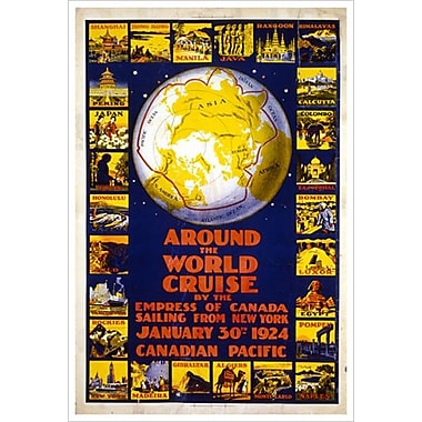 « CP - Around the World Cruise » I, toile tendue, 24 x 36 po