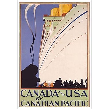 « CP - Canada and U.S.A. », toile tendue, 24 x 36 po