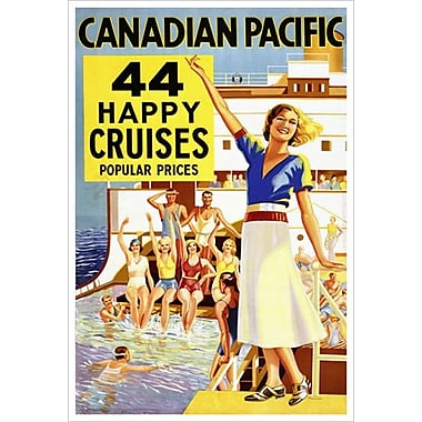 CP 44 Happy Cruises, Stretched Canvas, 24