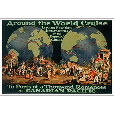 « CP - Around the World Cruise » II, toile tendue, 24 x 36 po