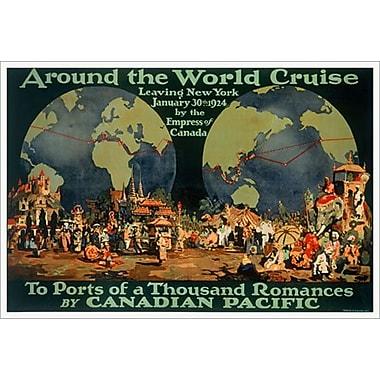 « CP - Around the World Cruise » II, toile tendue, 24 x 36 po