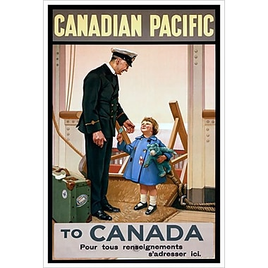 CP Canadian Pacific Canada, Stretched Canvas, 24