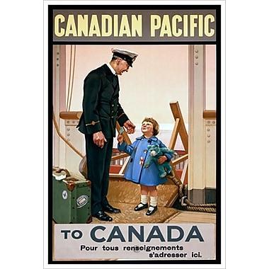 « CP - Canadian Pacific Canada », toile tendue, 24 x 36 po