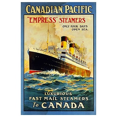 CP Empress Steamers, Stretched Canvas, 24