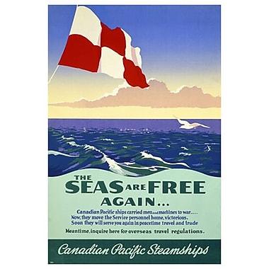 « CP - Seas are Free Again », toile tendue, 24 x 36 po