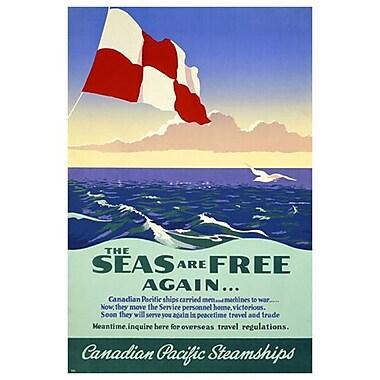 CP Seas ar Free Again, Stretched Canvas, 24