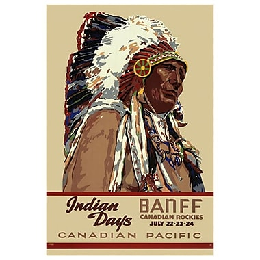 « CP - Indian Days Banff » II, toile tendue, 24 x 36 po