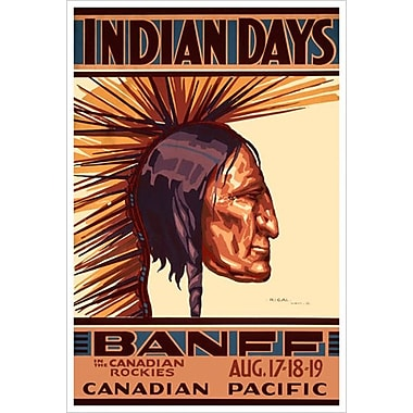 « CP - Indian Days Banff » III, toile tendue, 24 x 36 po