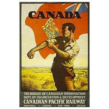 « CP - Canada », toile tendue, 24 x 36 po