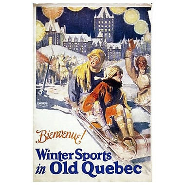 Canadian Pacific – Winter Sports in Old Quebec, toile tendue, 24 x 36 po