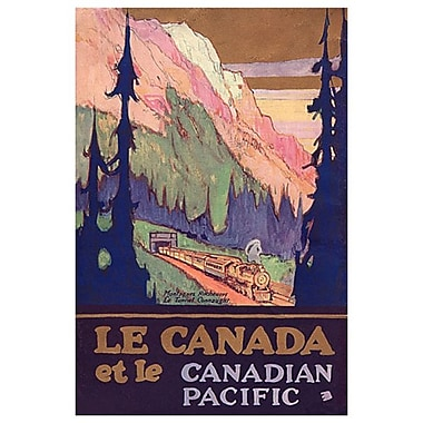 Canadian Pacific – Le Canada et le Canadian Pacific, toile tendue, 24 x 36 po
