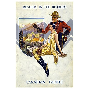Canadian Pacific – Resorts in the Rockies, toile tendue, 24 x 36 po