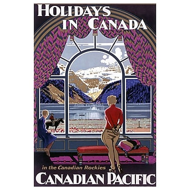 Canadian Pacific – Holidays in Canada, toile tendue, 24 x 36 po