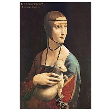 La Dame à l'hermine de de Vinci, toile, 24 x 36 po