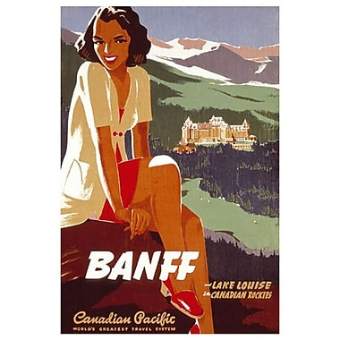 Canadian Pacific – Banff-Lake Louise Ski Areas Canadian Rockies, toile tendue, 24 x 36 po