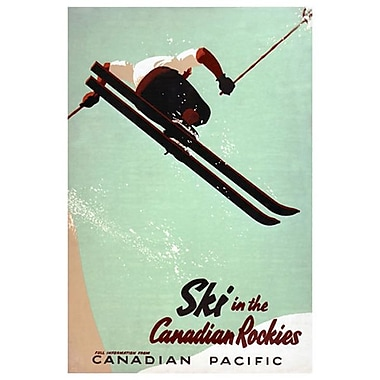 CP Ski in Canadian Rockies, Stretched Canvas, 24