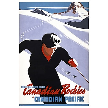 Canadian Pacific – Banff-Lake Louise Region Canadian Rockies, toile tendue, 24 x 36 po