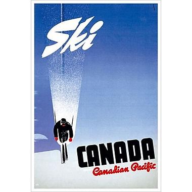 Canadian Pacific – Ski Canada, toile tendue, 24 x 36 po