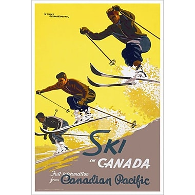 Canadian Pacific – Ski in Canada, toile tendue, 24 x 36 po