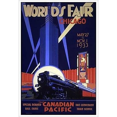 Canadian Pacific – World's Fair Chicago, toile tendue, 24 x 36 po