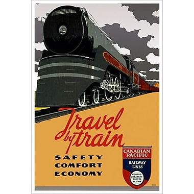 Canadian Pacific – Safety Comfort Economy I, toile tendue, 24 x 36 po
