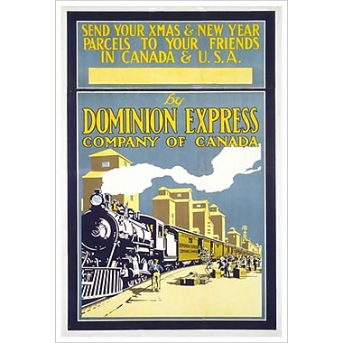 Canadian Pacific – Xmas & New Year Parcels, toile tendue, 24 x 36 po