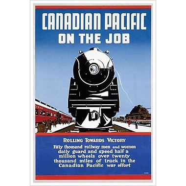 Canadian Pacific – On the Job, toile tendue, 24 x 36 po