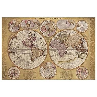 Carte – Globe terrestre, toile tendue, 24 x 36 po